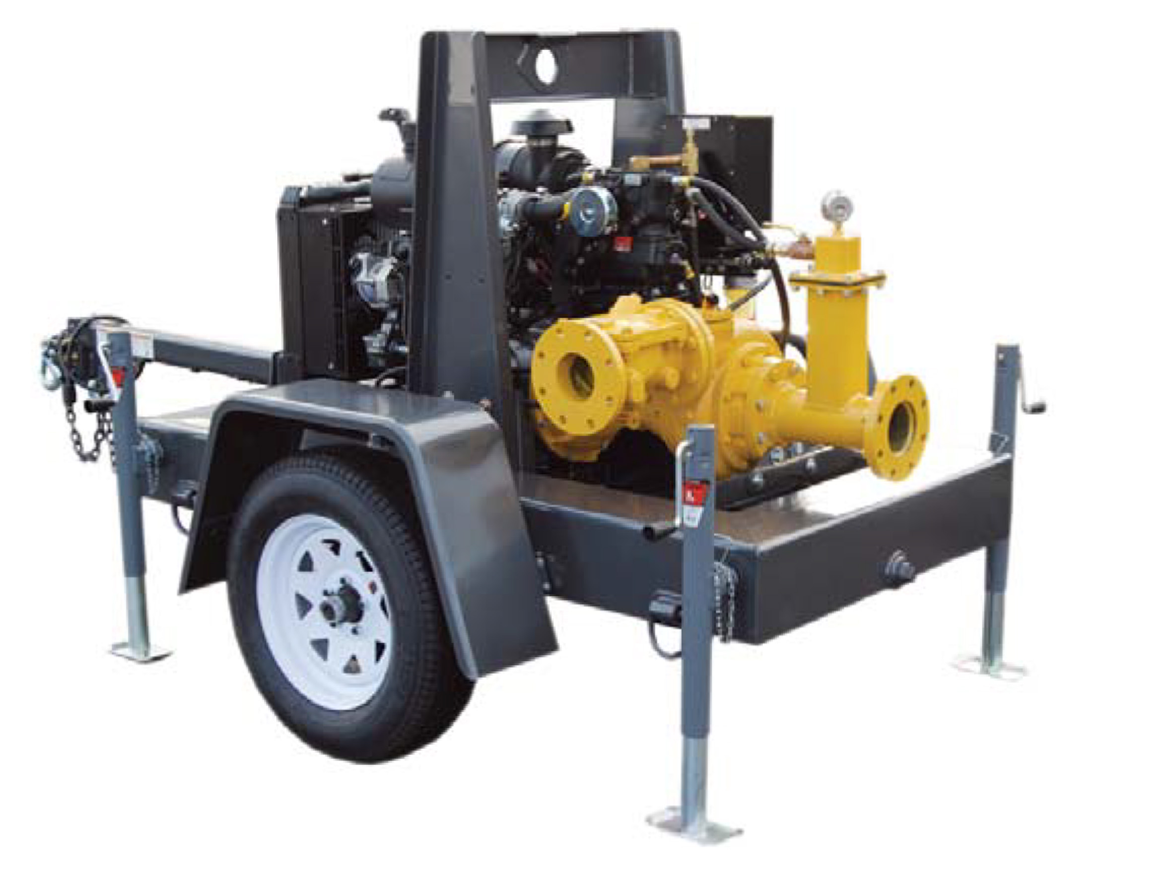 4NNTL Trailer Mounted Trash Pump