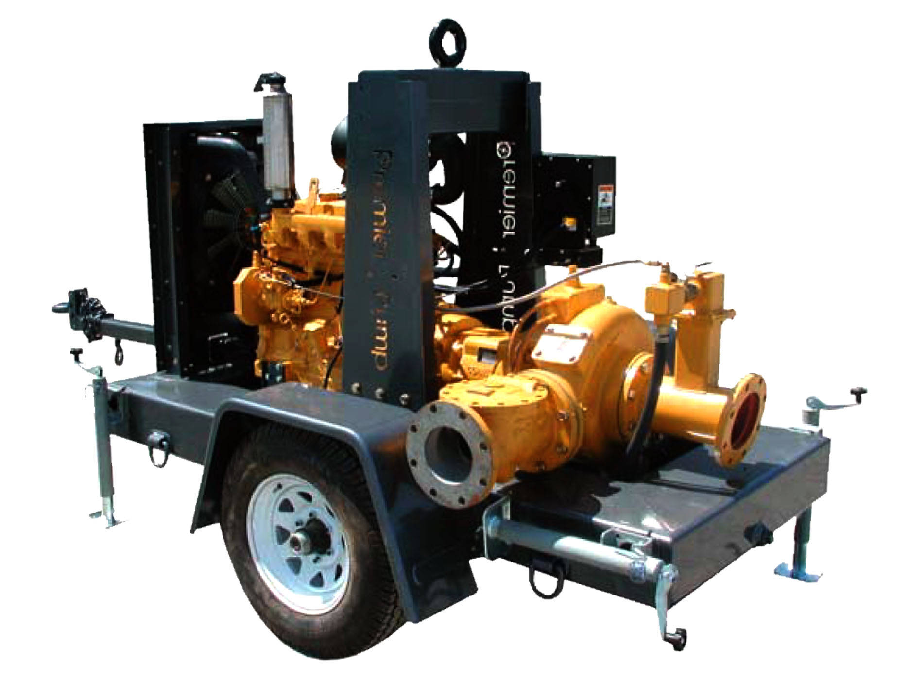 Model: 6NHTA Trailer Mounted Trash Pump