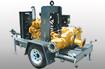 2.5H Trailer Mounted Vacuum Assisted Heavy Duty Clear Water Dry Prime Pump